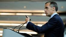 The big question today is whether Bank of Canada Governor Mark Carney will take a 'hawkish' turn and indicate that he may start lifting his benchmark rate from the current 1 per cent sooner than Bay Street analysts expect, which for most is not until the second half of 2013 (Sean Kilpatrick/The Canadian Press)