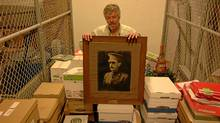 Mark Brigham found this portrait of Major Alfred Frank Mantle in a University of Regina storage room in 2010. (Mark Taylor for The Globe and Mail)