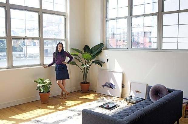 Esther Choi in her Brooklyn loft.