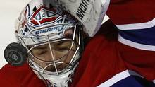 The CBC is reporting Montreal Canadiens goaltender Carey Price is suffering from a concussion. While his NHL club won't confirm the Radio Canada report, they do confirm he has been suffering from headaches. FILE PHOTO: REUTERS/Shaun Best (© Shaun Best / Reuters)