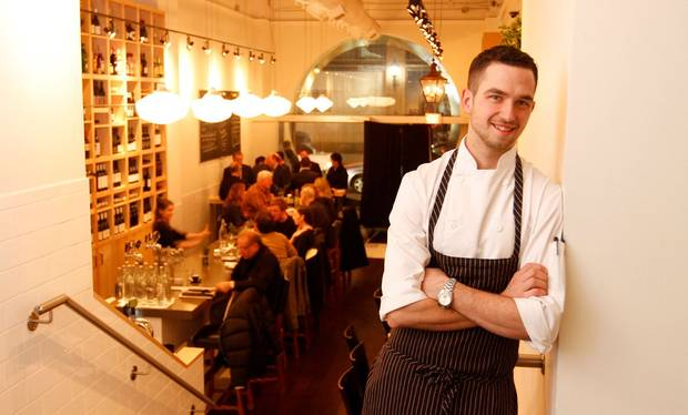 Chef Carl Heinrich photographed at his restaurant Richmond Station in downtown Toronto, December 12 2012.