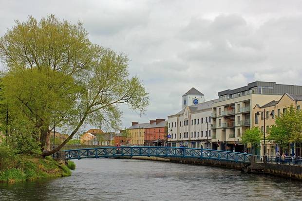 A view from Rockwood Parade on the banks of the Garavogue River in Sligo Town.