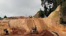 Molejon bypass earthworks, part of development in Panama by Canadian mining company Inmet Mining. (Inmet Mining)