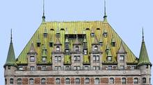 During their stop in Quebec City, Prince William and Princess Kate can take in all the charms of the old city and a gargantuan piece of netting covering the Chateau Frontenac, which is undergoing a once-in-a-century, $7.5-million reno to replace a copper roof that's reached the end of its lifespan. (Michel Roy/Digital Direct/Michel Roy/Digital Direct)