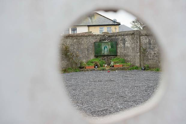 The excavation spot in Tuam where it is thought that 800 babies are buried.