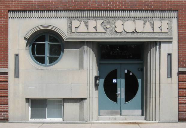 The entry to Park Square Apartments in Ottawa.