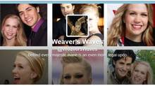 "@WeaversWaves parodies Weaver's long blonde locks that fall almost to her waist, profiling itself as ""Weavers Waves – Behind every majestic mane is an even more regal updo. (Twitter.com)"