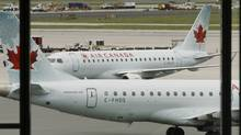 Air Canada planes at Pearson International in Toronto. (MIKE CASSESE/REUTERS)