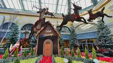 The Bellagio has turned its conservatory into a winter fantasyland.