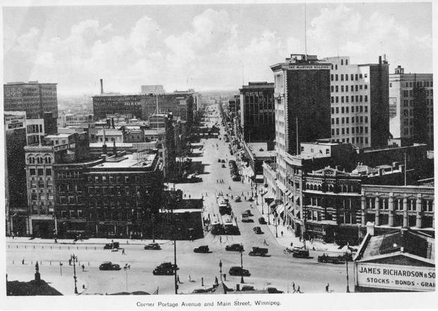 Portage and Main in 1956.
