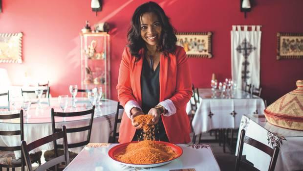 Amsale Sumamo, chef at Langano Skies restaurant in Edmonton, is among the contributors to the Edmonton Cooks recipe book.