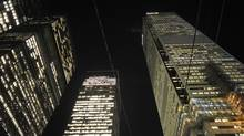 Bank towers in the night sky at the heart of Toronto's financial district. (Fred Lum/Fred Lum/The Globe and Mail)