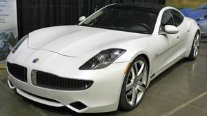 A Fisker Karma luxury plug-in hybrid car is seen at the sixth annual Alternative Transportation Expo and Conference (AltCar) in Santa Monica, Calif., in this Sept. 29, 2011 file photo. The Karma's problems - one died during testing by Consumer Reports this month - follow troubles for General Motors Co's Chevrolet Volt and the closure or bankruptcy of several electric vehicle-related start-ups.