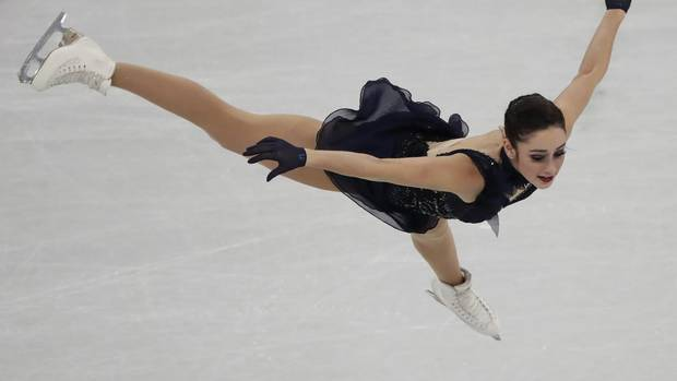 Kaetlyn Osmond of Canada performs during the women's short program figure skating in the Gangneung Ice Arena at the 2018 Winter Olympics in Gangneung, South Korea, Wednesday, Feb. 21, 2018.
