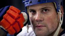 MIke Comrie in a practice arena in Los Angeles August 25, 2010 after a pick-up hockey game. (John Lehmann/The Globe and Mail) (JOHN LEHMANN/JOHN LEHMANN/THE GLOBE AND MAIL)