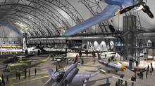 The ADF Group Inc. of Laval, Que., is building the 10-storey high Smithsonian Institution's National Air and Space Museum in Washington shown in an artist drawing. Steel trusses arching ten stories high are a signature architectural feature of the CenterÕs design. (CP)