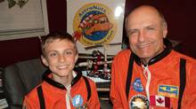 Space enthusiast Ray Bielecki and his son Brett, from Newmarket, Ont., are shown in a handout photo. (Anna Bielecki/The Canadian Press/Anna Bielecki/The Canadian Press)