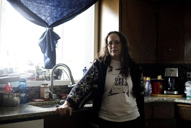 Medical marijuana user Skye Bergen pictured wants to the government legalize mail-order marijuana.