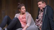 Lesley Faulkner and Brendan Gall rise to the challenge in Lungs. (Cylla von Tiedemann/Tarragon Theatre)