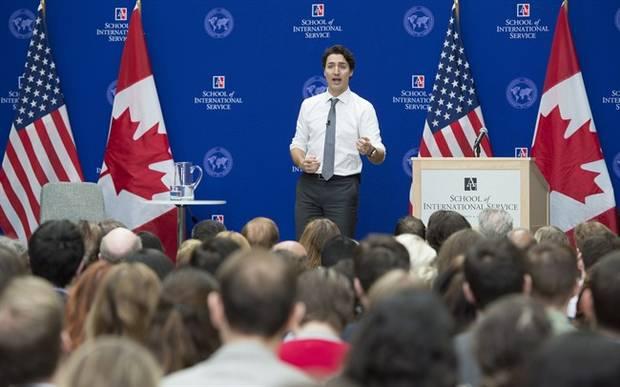 Mr. Trudeau at American University.