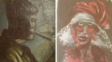 File combination photo of two formerly unknown paintings by German artist Otto Dix found in a Munich apartment, part of a billion-dollar cache. (MICHAEL DALDER/REUTERS)
