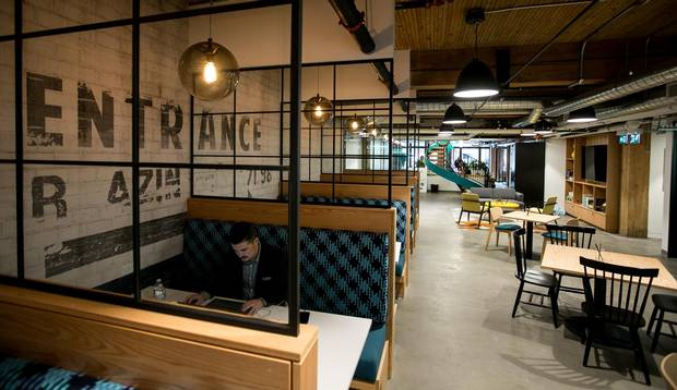 The new exposed-brick-and-beam facility in Toronto is the first in Canada for Spaces, a Netherlands-founded company that was acquired in 2015 by co-working giant Regus.