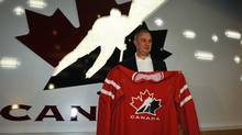 Brent Sutter poses with a Team Canada jersey April 16, 2012. (Todd Korol/Reuters/Todd Korol/Reuters)