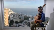 The veteran Brazilian singer and composer Chico Buarque de Hollanda poses at his home in Leblon, south of Rio de Janeiro, Brazil on September 12, 2013. (Jose Pedro Monteiro/Estadao Conteudo/DPA/ABACA/Newsc)