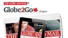 Globe2Go is a subscriber-only, browser-based newspaper replica available on desktop computers, smartphones and tablet devices. (THE GLOBE AND MAIL)