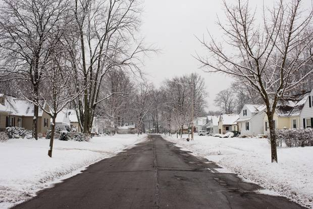 Glenside Avenue, a residential street in the middle-class Cleveland suburb of South Euclid.