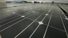 Canada's largest roof-top mounted solar array in Mississauga. (Fernando Morales/The Globe and Mail)