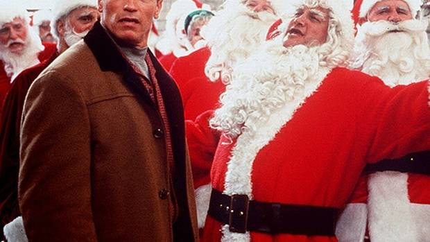 Jingle All the Way (1996) Quite possibly the worst holiday movie of all time, this comedy vehicle for Arnold Schwarzenegger can be found in the clearance bins of most major department stores. Big Arnie is wildly miscast as the workaholic dad Howard, who leaves it to Christmas Eve to pick up the popular toy Turbo-Man for his young son. Since the toy is sold out almost everywhere, Howard enters into a heated competition with the postal worker Myron (Sinbad) to obtain the last one. Painfully unfunny slapstick and the best evidence that Schwarzenegger really can't act.