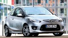 The 3-door hatchback edition of the Mazda2 is available in Europe. (Mazda)