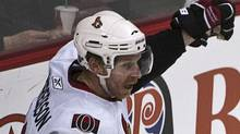 Ottawa Senators captain Daniel Alfredsson is out indefinitely with a back injury. REUTERS/Andy Clark (ANDY CLARK)