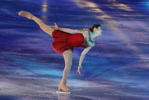 Yuna Kim performs during her farewell ice show in Seoul in 2014.