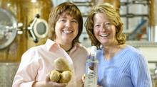 Prince Edward Distillery's Julie Shore and Arla Johnson. (Alanna Jankov for The Globe and Mail/Alanna Jankov for The Globe and Mail)