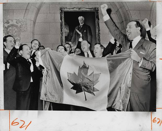United Press International Photo, [Members of Canadian Parliament sing