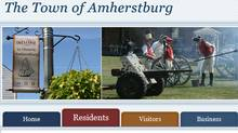 A screenshot shows part of Amherstburg, Ont.'s town website.