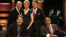 Shark Tank investors and panellists Jeff Foxworthy, Kevin O'Leary, Barbara Corcoran, Robert Herjavec, and Daymond John