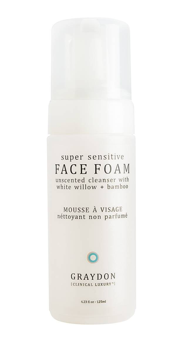 Graydon Super Sensitive Face Foam, $25 through www.graydonskincare.com.