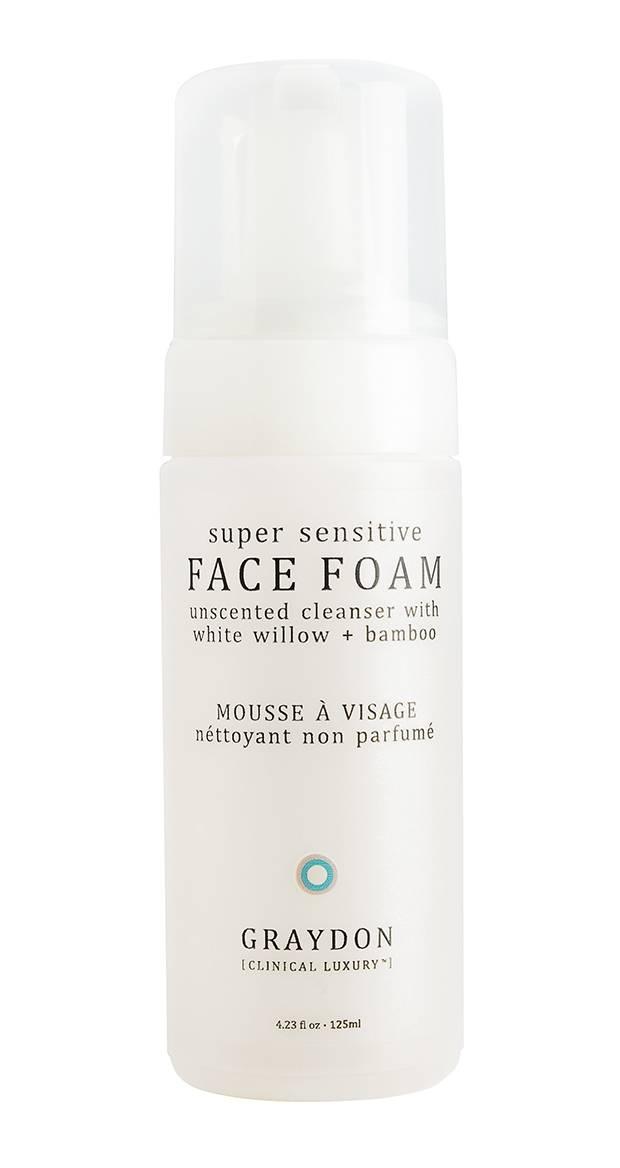Graydon Super Sensitive Face Foam, $25 through www.graydonskincare.com.