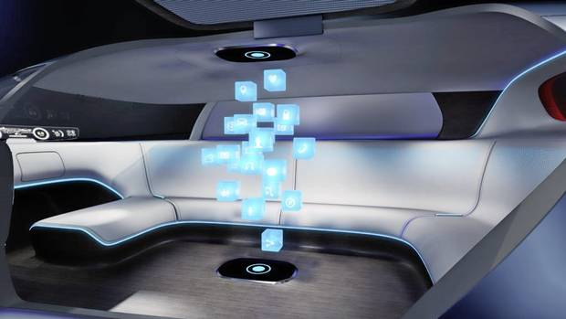 A rendering of the interior for a Mercedes-Benz Vision Tokyo