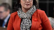 Environment Minister Leona Aglukkaq speaks in Ottawa on Nov. 5, 2013. (SEAN KILPATRICK/THE CANADIAN PRESS)