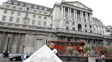 A general view of the Bank of England, seen, in the city of London, Wednesday, Aug. 12, 2009. (Alastair Grant/AP)