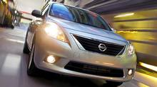 The redesigned 2012 Nissan Versa will feature the lowest starting sticker price in Canada at $11,798. (Nissan)