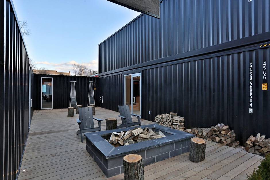 Toronto condo development builds sales centre out of shipping containers
