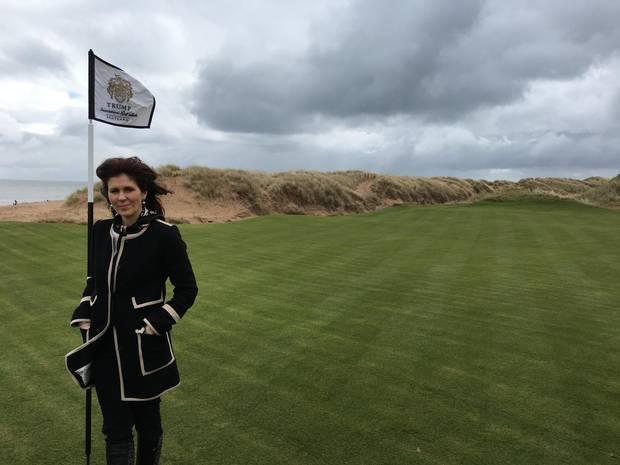 Sarah Malone, the executive vice-president of Trump International Golf Links.