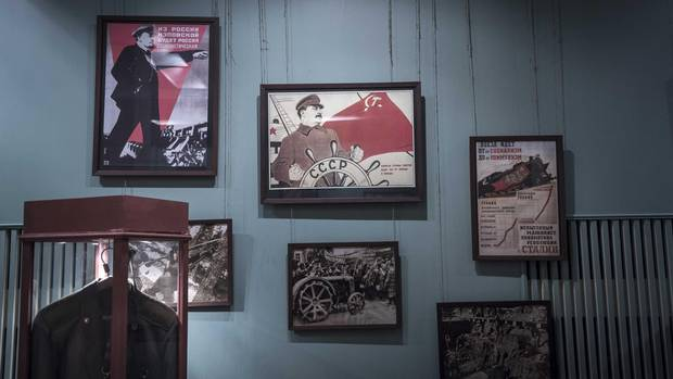 Soviet period propaganda posters at the Museum of the History of Political Repression outside Perm.