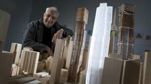 Architect Frank Gehry was at a press conference at the AGO in Toronto on October 1, 2012. (Peter Power/The Globe and Mail)