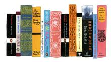 "Jennifer Egan's bookshelf from ""My Ideal Bookshelf,"" as illustrated by Jane Mount (Jane Mount)"